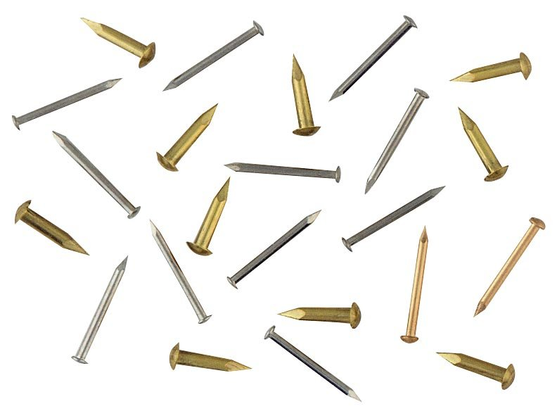 #15 Solid Brass Escutcheon Pins