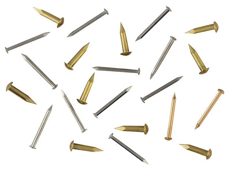 #20 Solid Brass Escutcheon Pins