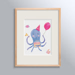 Birthday Kid Octopus Poster