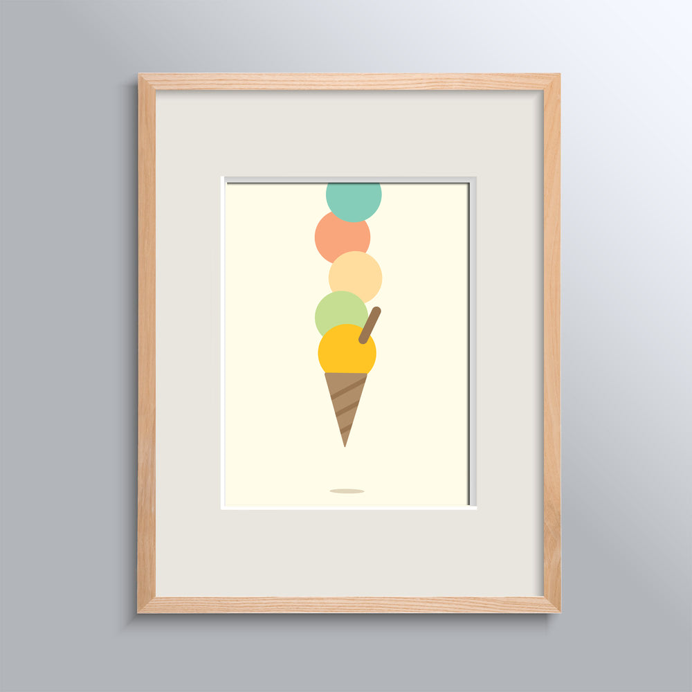 Ice Cream Land 3'lü Çerçeveli Poster