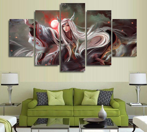 unframed-5-panels-wall-art-anime-naruto-kaguy anime image