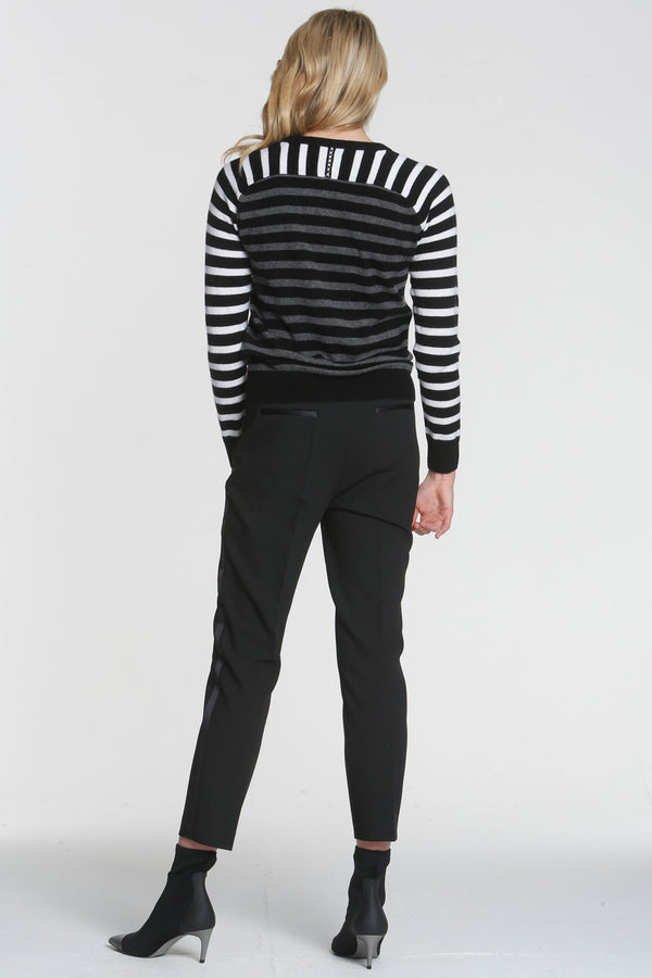 Warhol Stripes Crew Neck Sweater