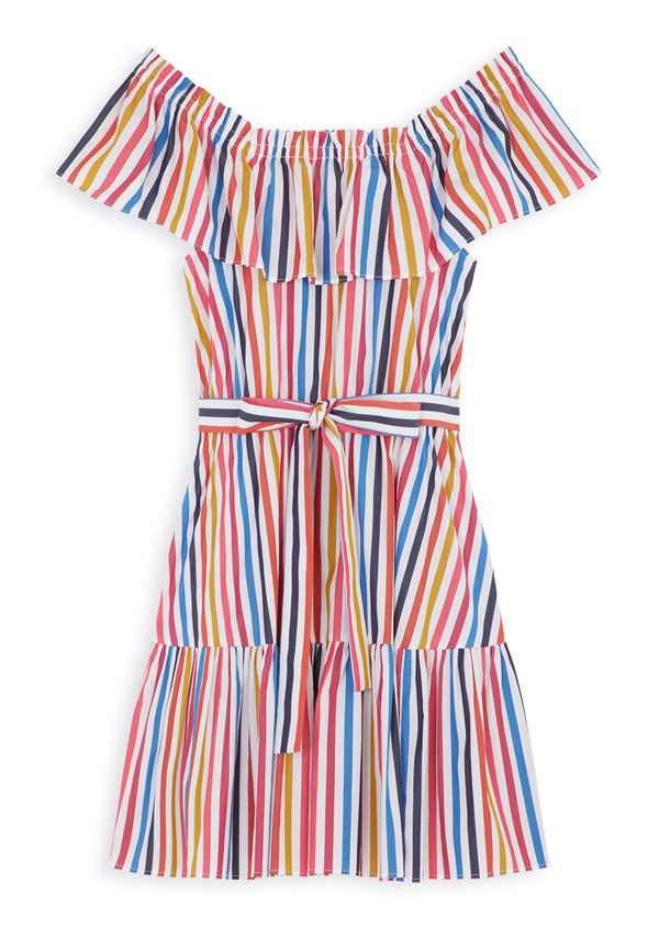 Multicoloured Poplin Dress