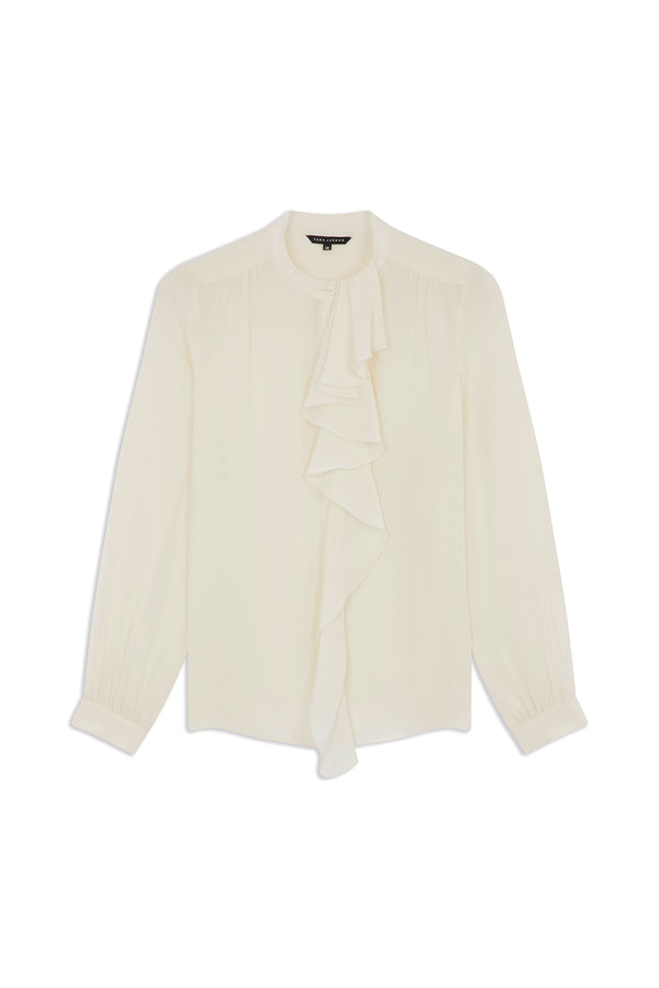 Blouse with Mao Collar Off-white
