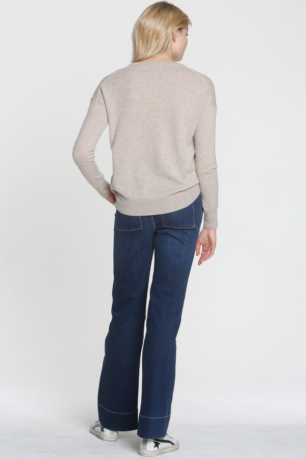 Monroe Crew Neck Sweater Oatmeal