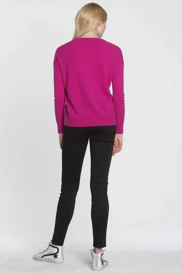 Monroe Crew Neck Sweater Orchid