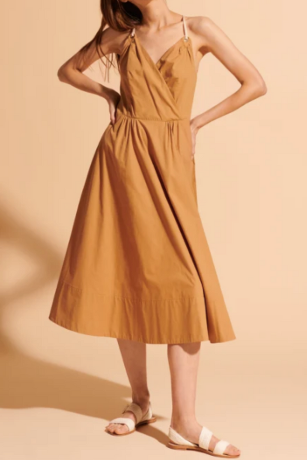 Camel Rosabel Dress in Poplin and Rope