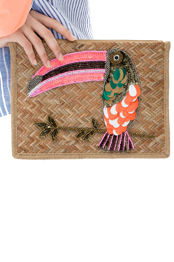 <p><b>Expected delivery in mid-March</b></p> Dunya Tucan Clutch