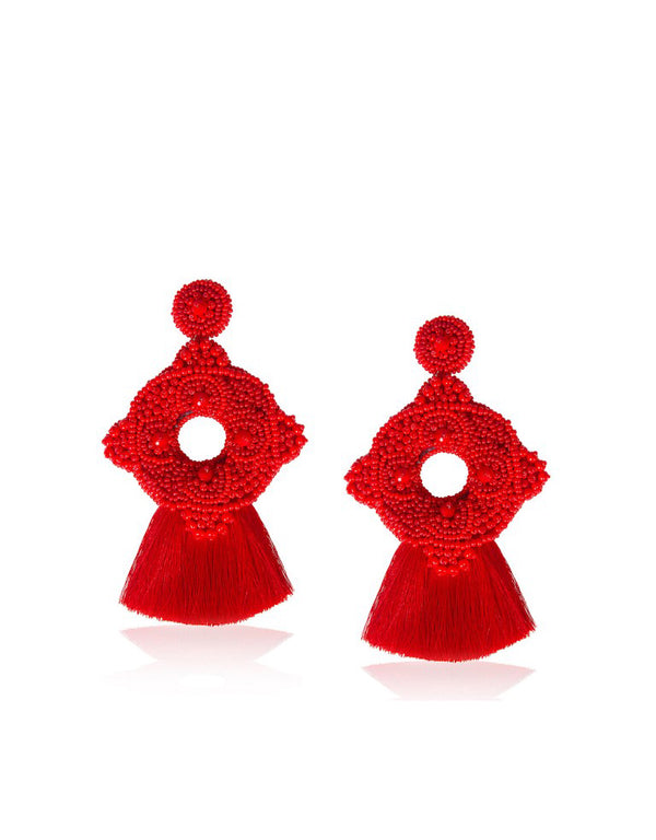 Red Cleopatra Earrings