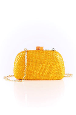 Mia Yellow Clutch