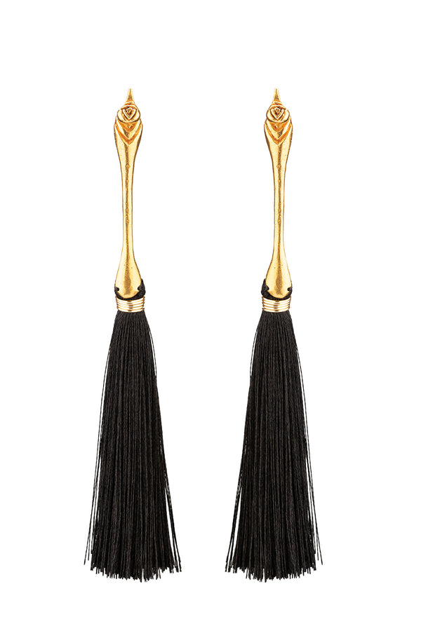 Pajaro de Cola Negra Earrings