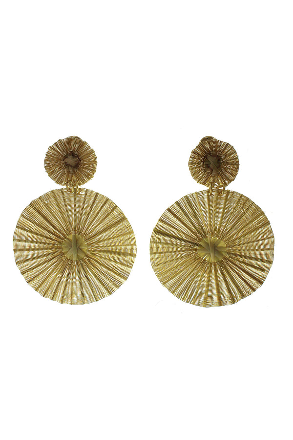 Dos Soles Dorados Petit Earrings