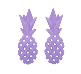 Pineapple Purple Earrings