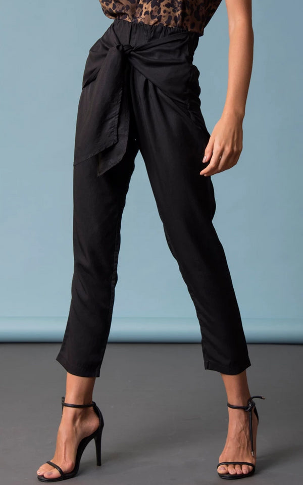 Paperbag Pants Black