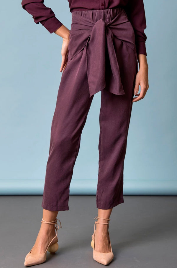 Paperbag Pants Burgundy