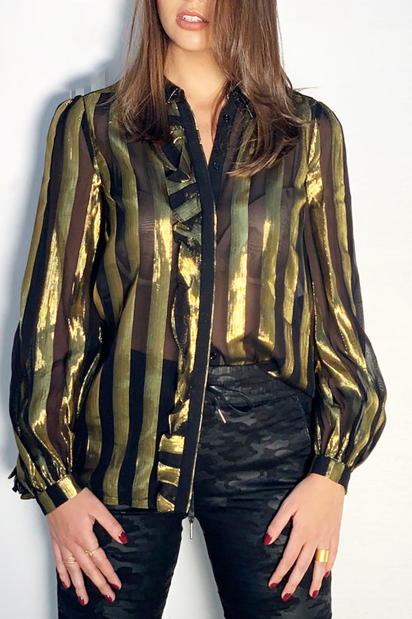 Black and Gold Lurex Shirt