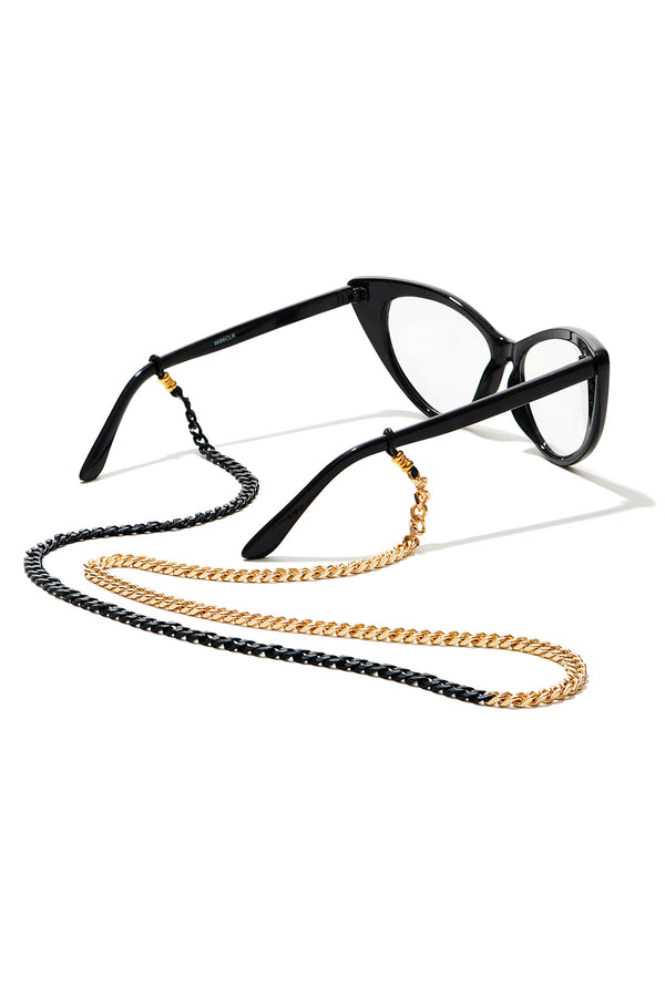 Eyeglass Holder - Gold and Black