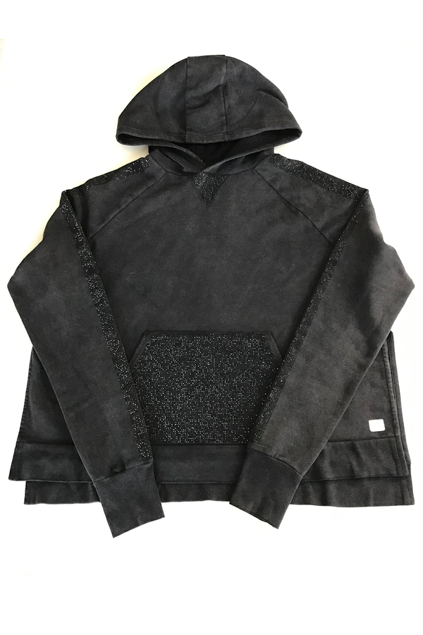 Blinged Out Pullover Hoodie Black