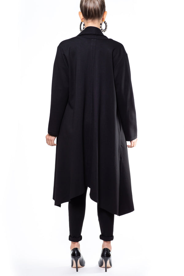 Black Shawl Collar Coat