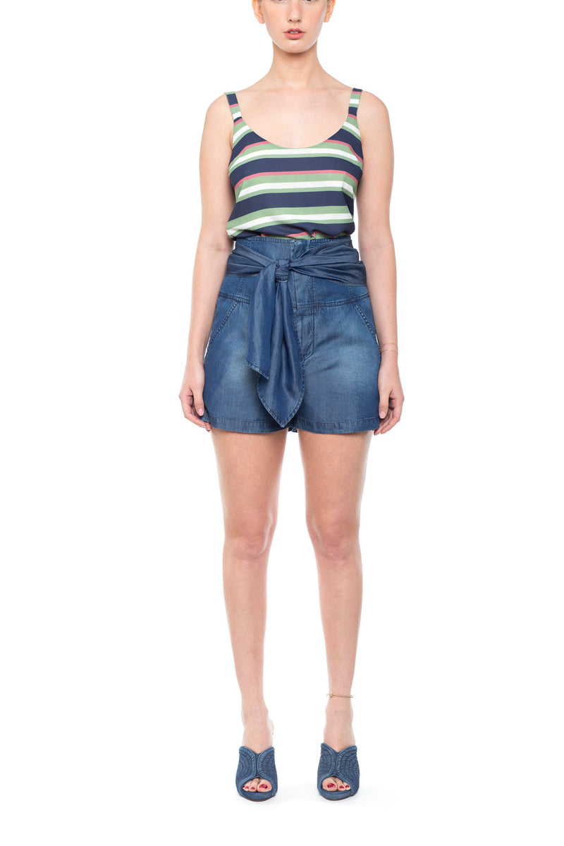 High waisted Shorts Dark Blue