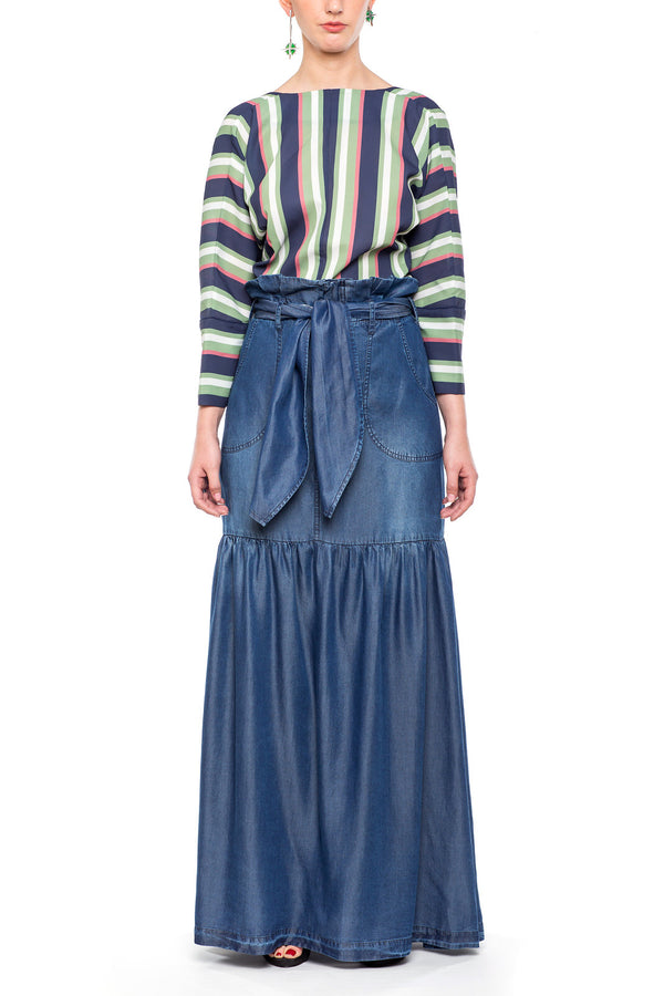 Long Skirt Dark Blue
