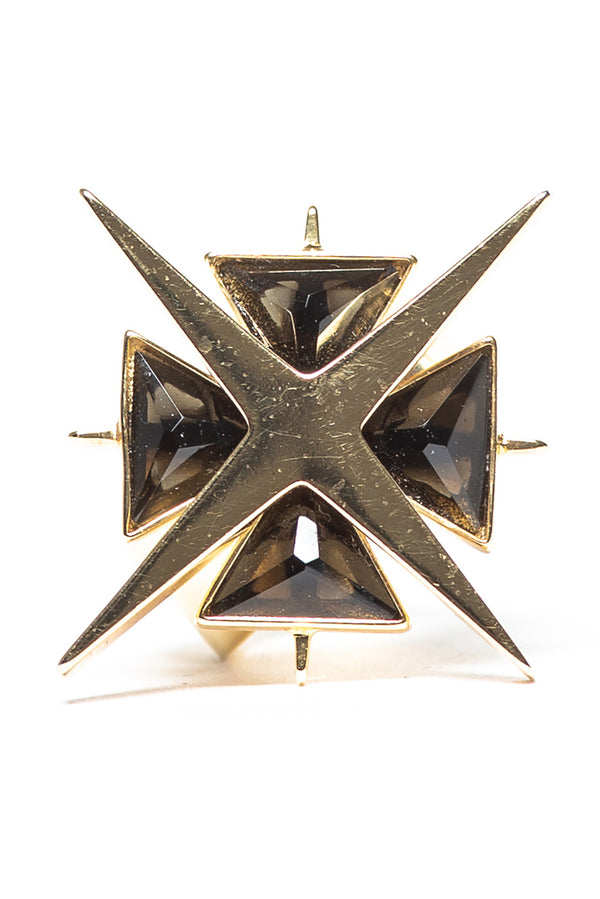 Star of Venus Black Onix Ring