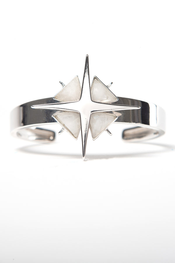 Star of Venus White Quartz Cuff