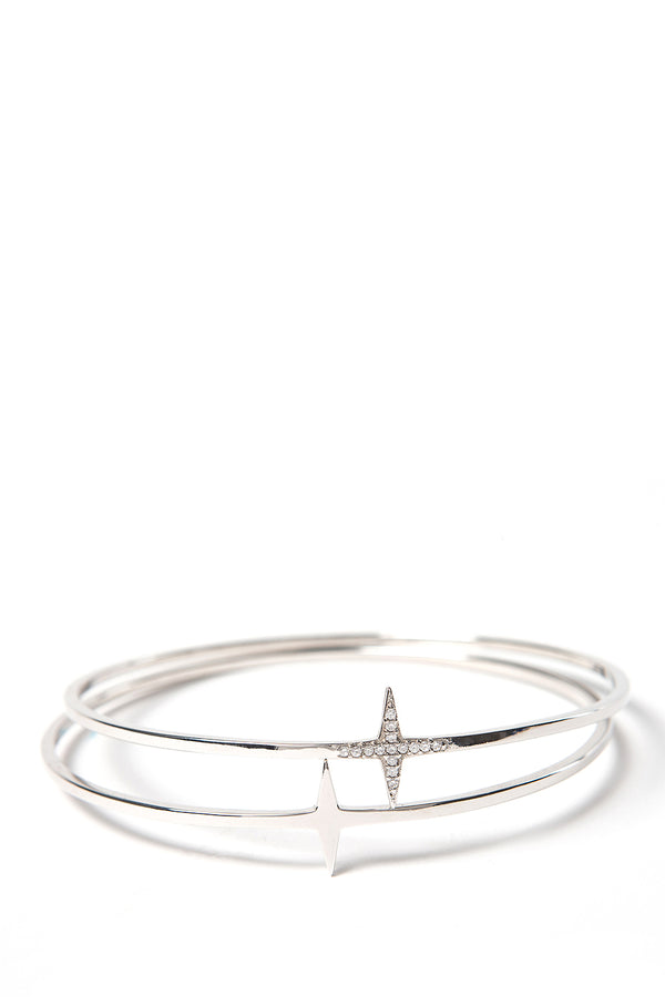 Star Bangles Rhodium