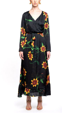 Fiesta Long Dress Girasoles