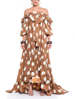 Maria del Rosario Dots Long Dress