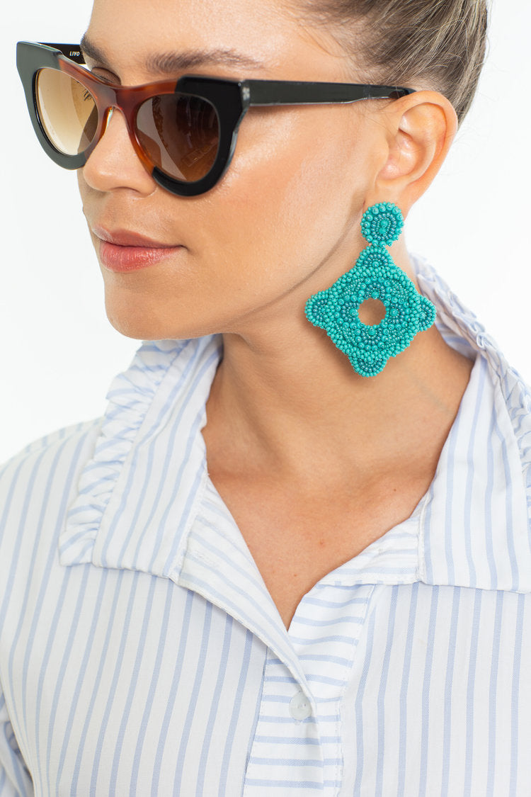 Small Turquoise Frida Earrings