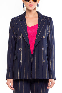 Tiffany Blazer Navy & Gold