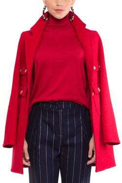 Lucrecia Coat Red