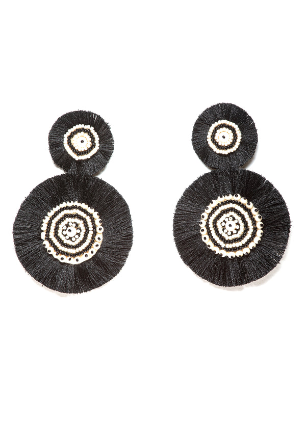 Black White Marylin Earrings