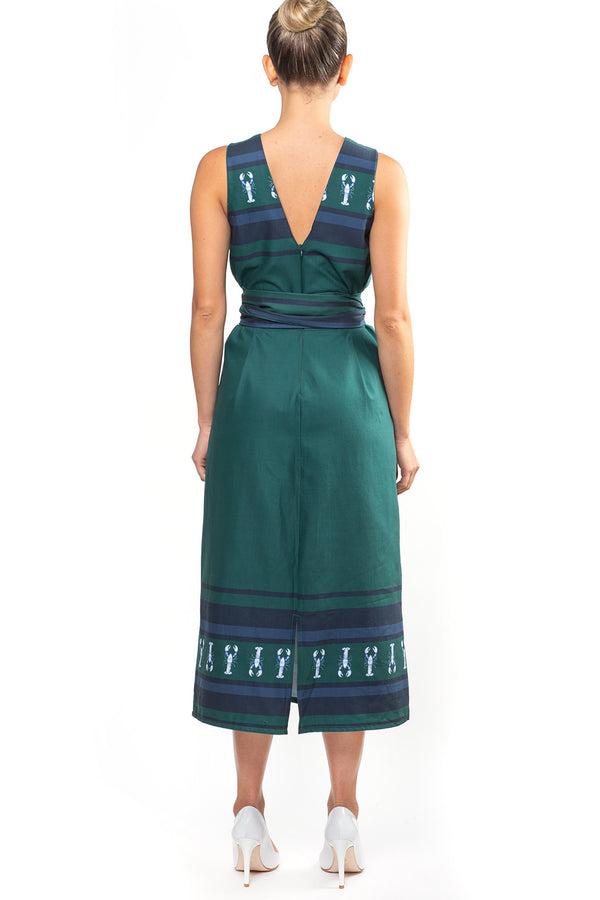 Green Lobster Dress with Belt