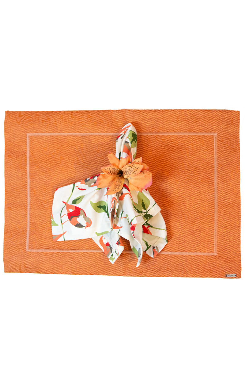 Coral Bird Placemat Set