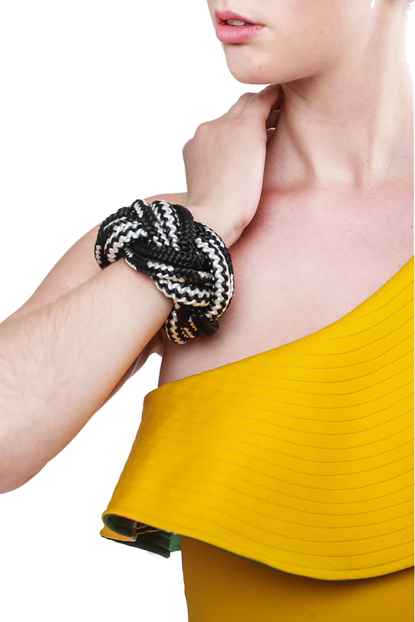Braid Bracelet Black White