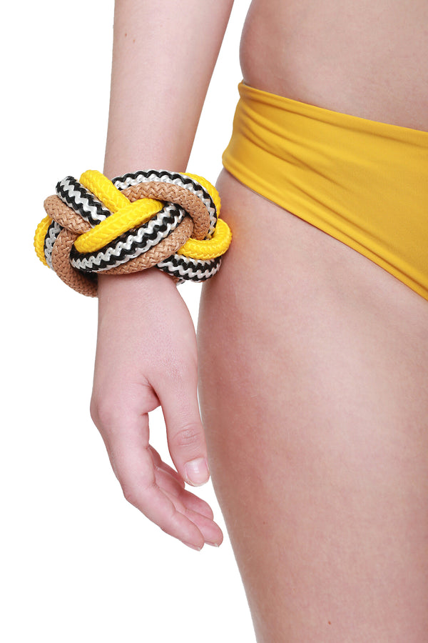 Braid Bracelet Black Yellow