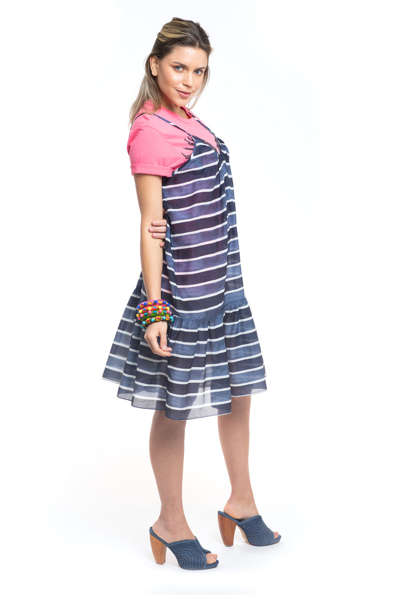 Blue Stripes Dress Chromata