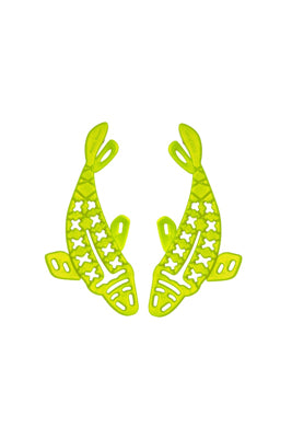 Carp Green Earrings