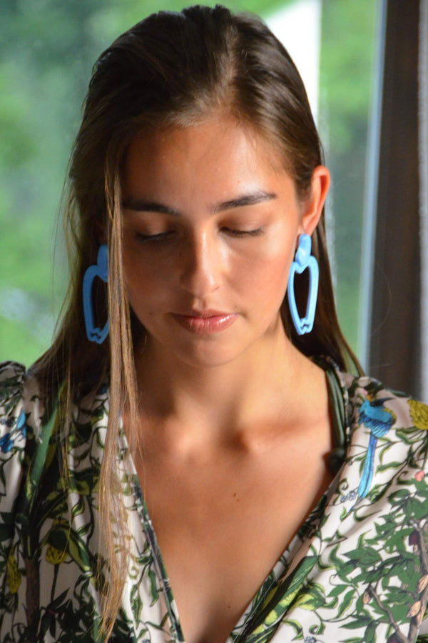 Cashew Blue Earrings