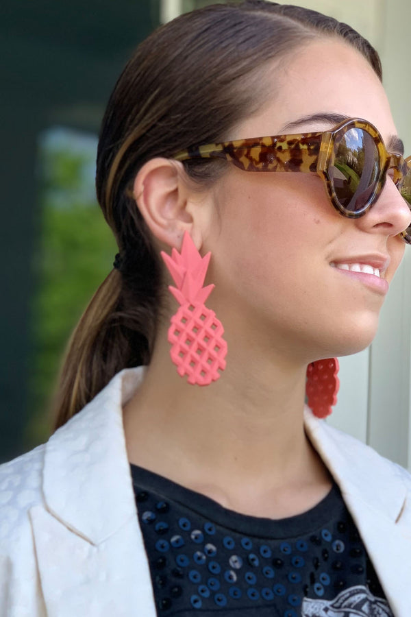 Pineapple Pink Earrings