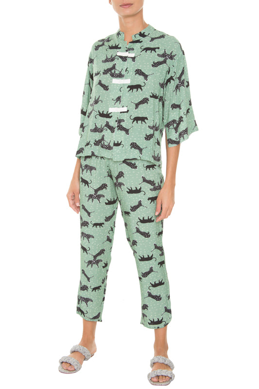 Safari Celadon Pajamas