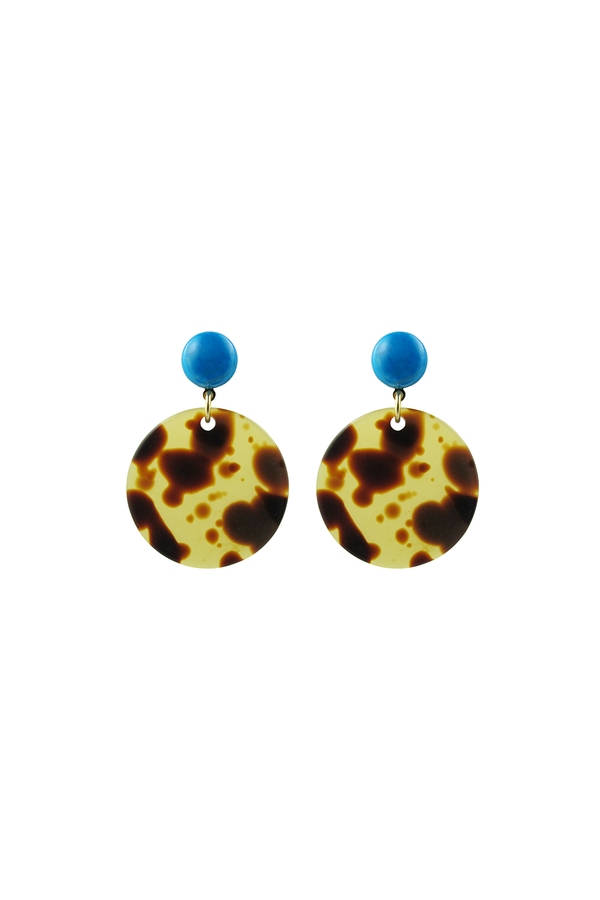 Circle Earrings Tortoise