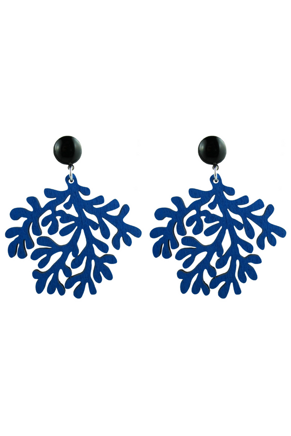 Coral Earrings - Blue