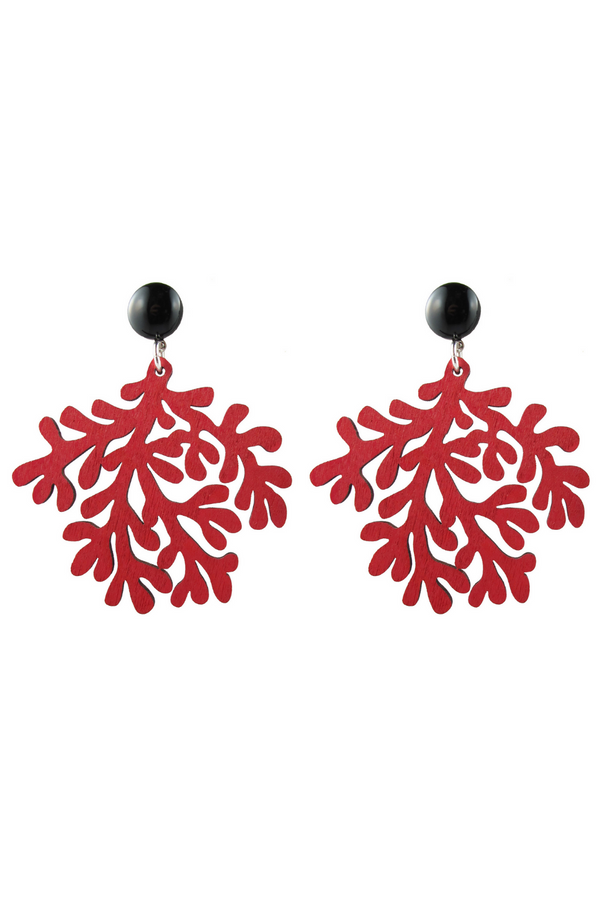 Coral Earrings - Red
