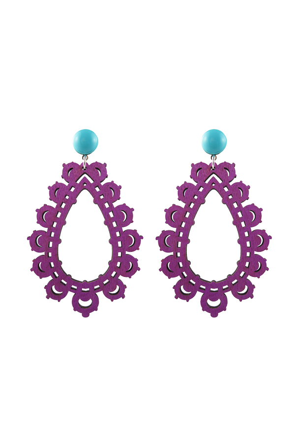 Krina Earrings Purple