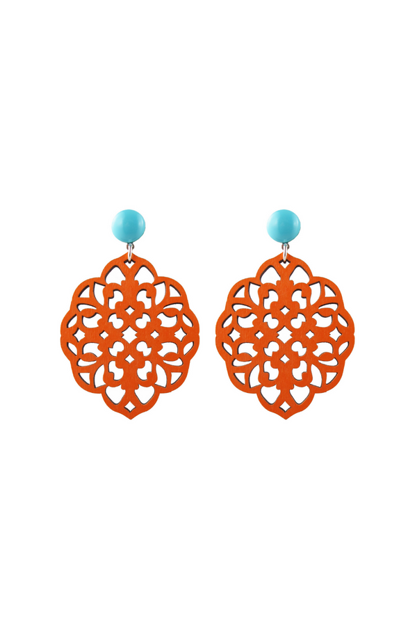 Rima Earrings - Orange