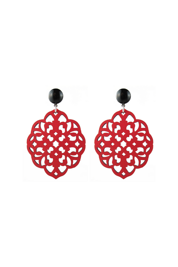 Rima Earrings - Red