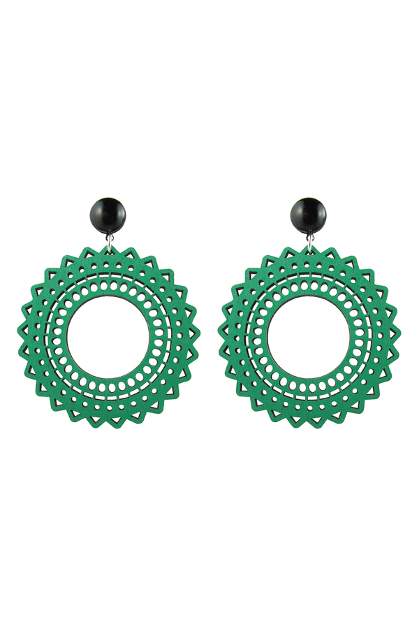 Vara Earrings Green